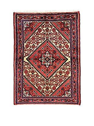L'Eden del Tappeto Teppich Hamadan rot/mehrfarbig 144t x t104 cm