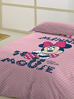 Disney Juego de Funda Nórdica Minnie Botton (Rosa)