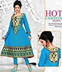 Radiant Cotton Embroidered Anarkali Suit Material D.NO RL1509