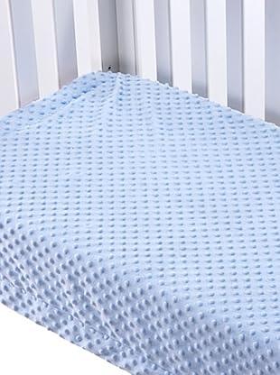 Mantas Mora Manta Cuna Microfibra Topitos (Azul)