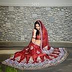 Designer Maroon Colour Bright Net+Brocade Lehenga Choli
