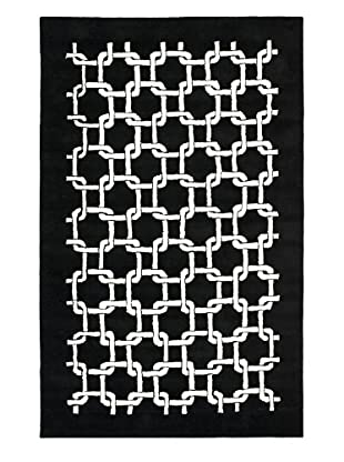 Soho Rugs Links (Black/Ivory)