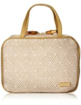 Saks Fifth Avenue TRIO WHITE Cosmetic Bag .
