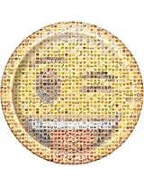 Official Emoji Party Supplies 9 Inch Round Plates (8 Count)
