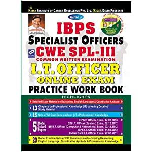 IBPS Specialist Officer CWE SPL-3 common written examination I.T. OFFICER Online Exam Practice Work Book(With CD)