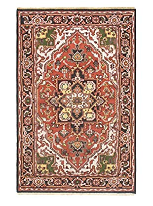 Hand-Knotted Heriz Select Wool Rug, Copper, 5' x 7' 8