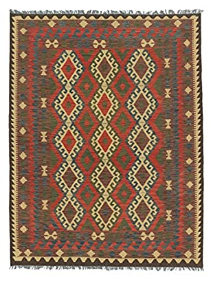 eCarpet Gallery One-of-a-Kind Anatolian Kilim Rug, Navy/Red, 5' 3