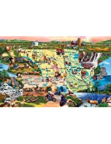 Badlands And Sky Waters A 1000 Piece Jigsaw Puzzle By Suns Out
