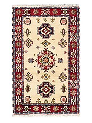 Hand-Knotted Royal Kazak Rug, Cream/Dark Red, 3' x 5'