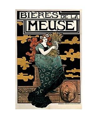 1896 Bieres de La Meuse Giclée Canvas Print