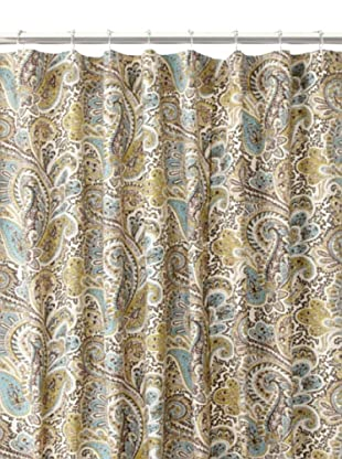 Chateau Blanc Paisley Shower Curtain, Chocolate