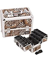 Professional Cosmetic Makeup Case Color: Brown Leopard