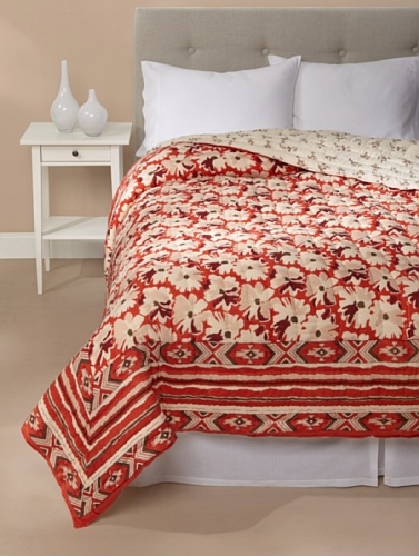 Kerry Cassill Quilt (Big Orange Floral)
