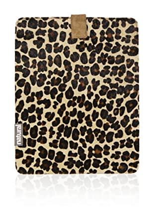 Natural iPad Cowhide Case (Leopard Print)