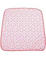 Kerokid 100 TC Cotton Shower Towel- White and Pink