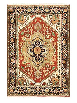 eCarpet Gallery One-of-a-Kind Hand-Knotted Serapi Heritage Rug, Dark Copper, 4' x 6'