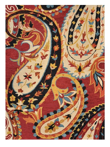 Loloi Rugs Serendipity Collection Rug (Red/Ivory)