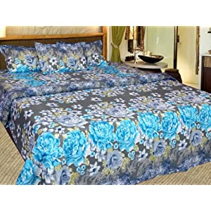 100% Cotton Double Bedsheet with 2 pillow covers - bedsheets/ bed sheet- j3