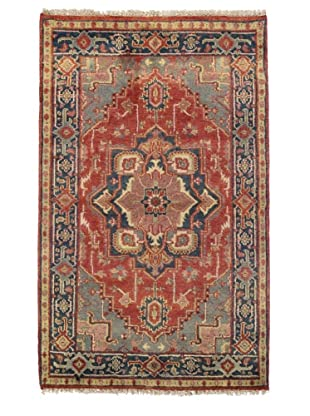 Rug Republic One Of A Kind Indo-Serapi Hand Knotted Rug, Antique Red/Multi, 3' 1