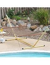 65'' Extra Wide Deluxe Khaki rope hammock