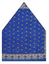 Tiekart Polka Print Silk Pocket Square (Ps452_Blue)
