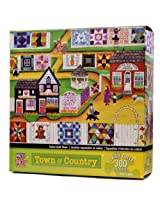 300-Piece Calico Quilt Show Puzzle Art by Cheryl Bartley