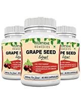 Morpheme Grape Seed Extract 500mg Extract 60 Veg Capsules - Buy 2 Get 1 Free