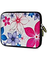 Amzer 7.0 - 7.75 Inches Designer Neoprene Sleeve Case for iPad/Tablet/e-Reader and Notebooks, Five Petals Bloom (AMZ5260077)