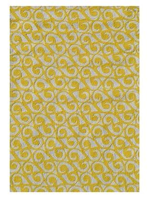 The Rug Market Yang Rug (Yellow/White)