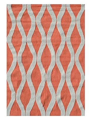 The Rug Market Squiggle Rug (Coral/White)