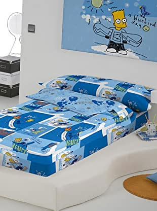Euromoda Licencias Saco Nórdico Con Relleno Simpsons Family (Blanco / Azul)