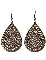 Saadi Gali Brass Dangle & Drop Earings For Women - Copper