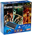 Sony PlayStation 3 500GB SuperSlim Console (Free Games: Infamous, Uncharted and Heavenly Sword)