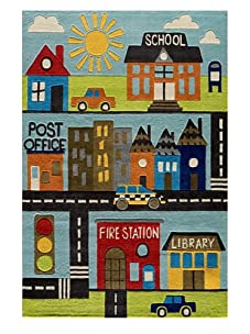 Lil Mo Around Town Rug (Multi)