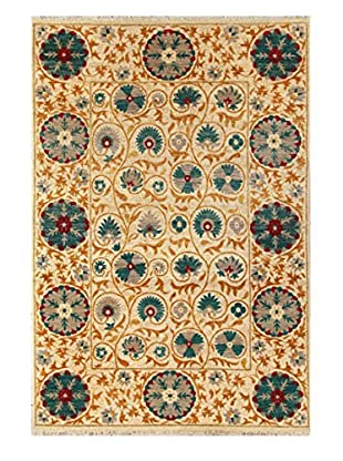 nuLOOM One-of-a-Kind Hand-Knotted  Suzani Area Rug, Tan, 6' x 9'