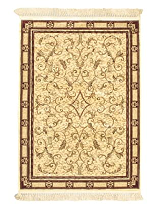 Persian Traditional Rug, Beige, 4' x 5' 7