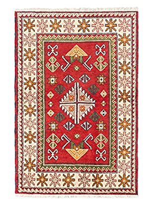 Hand-Knotted Royal Kazak Rug, Red, 4' x 5' 11