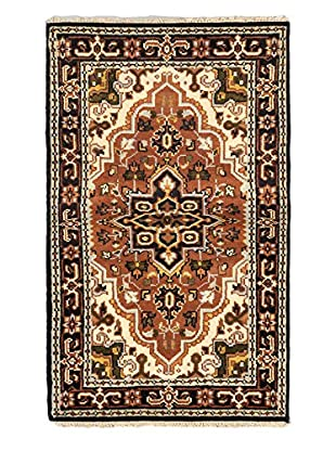 Hand-Knotted Royal Heriz Wool Rug, Brown, 3' x 5'