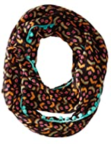 RAMPAGE Women's Boho Light Weight Infinity Scarves, Black, One Size
