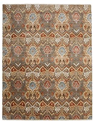 Darya Rugs Ikat Oriental Rug, Brown, 8' 1