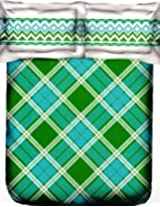 Portico New York Marvella 144 TC Cotton Bedsheet with 2 Pillow Covers - Abstract, Queen Size, Green
