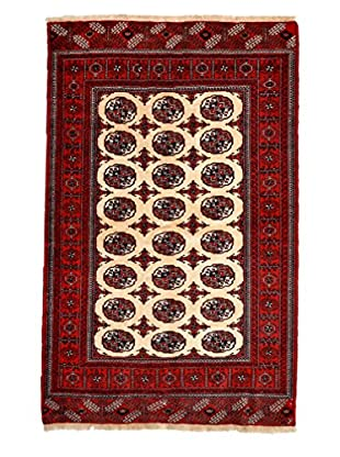 Darya Rugs Authentic Persian Rug, Red, 4' x 6'