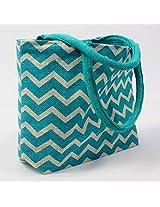 Luk Luck's Trendy ring design handbag-blue