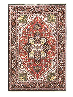 Hand-Knotted Heriz Select Wool Rug, Light Red, 6' x 8' 11