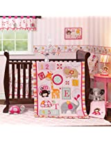 Bedtime Originals Crib Bedding Set, Jungle Sweeties, 3 Piece