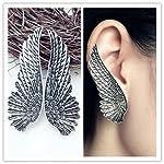 Angel Wings Stud earrings in antique Silver plated