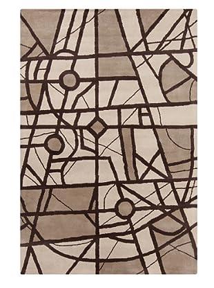 Filament Marisol Rug, Brown, 5' x 7' 6