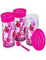 Cello Festive-E Container Set, 2 Litres, 3-Pieces, D.Pink