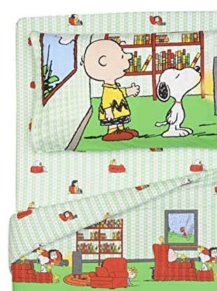 Cartoons Home Completo Letto Snoopy Home Sweet Home (verde)