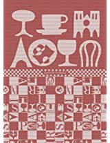 Garnier Thiebaut 26483 100-Percent Cotton Bistro Kitchen Towel, 22 by 30-Inch, Rouge